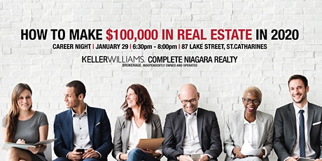 Niagara Career Night   How To Make $100,000 In Real Estate tickets