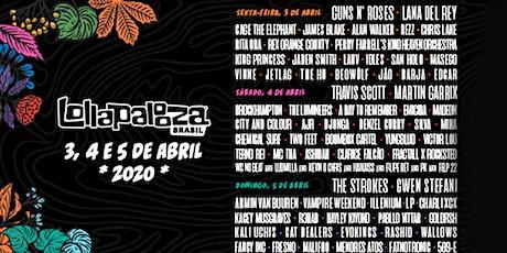 Excursão Lollapalooza ingressos