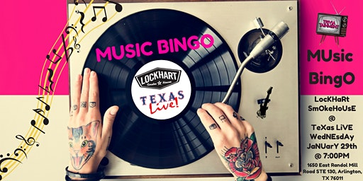 MUsic BingO at LocKHaRt SmOkeHoUsE- TeXas LiVE