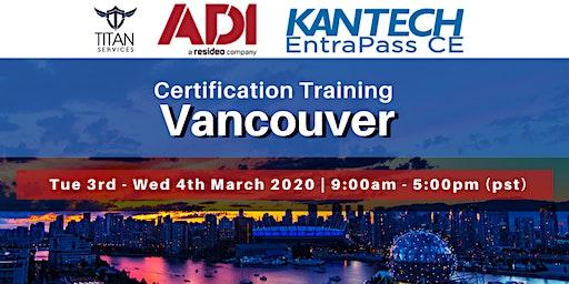 Vancouver Kantech CE Certification - ADI