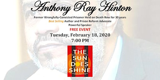 Black History Month 2020 - Speaker - Anthony Ray Hinton