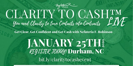 Clarity to Cash™ Live tickets