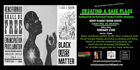 CREATING A SAFE PLACE-Healing From the Historical Trauma of White Supremacy tickets