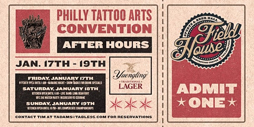 Philly Tattoo Arts Convention Afterparty