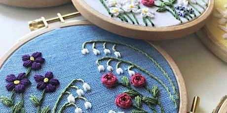 Beginner Embroidery - Design Your Own Family Flower Garden tickets