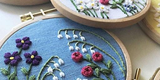 Beginner Embroidery - Design Your Own Family Flower Garden