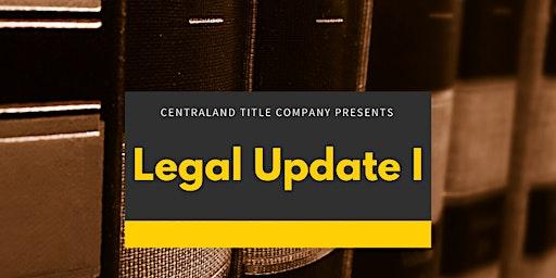 Legal Update I -  Course # 37796