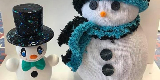 KIDS NIGHT TO MAKE A SOCK SNOWMAN AND PAINT CERAMIC SNOWMAN