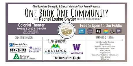 One Book One Community: An Evening with Rachel Louise Snyder tickets