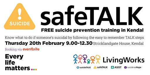 SafeTALK - Suicide Alertness Training - Kendal