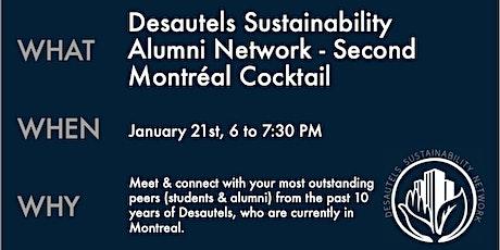 Desautels Sustainability Alumni Network - Second Montréal Cocktail tickets