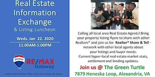 Real Estate Information Exchange & Luncheon 1.22.2020