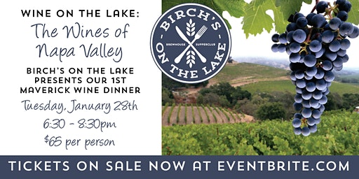 Birch's on the Lake Wine Dinner - The Wines of Napa Valley