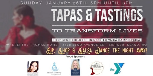 Tapas and Tastings to Transform Lives -  Fundraiser for YMCA Camp Orkila