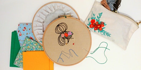 Learn To Create Portrait Embroidery tickets