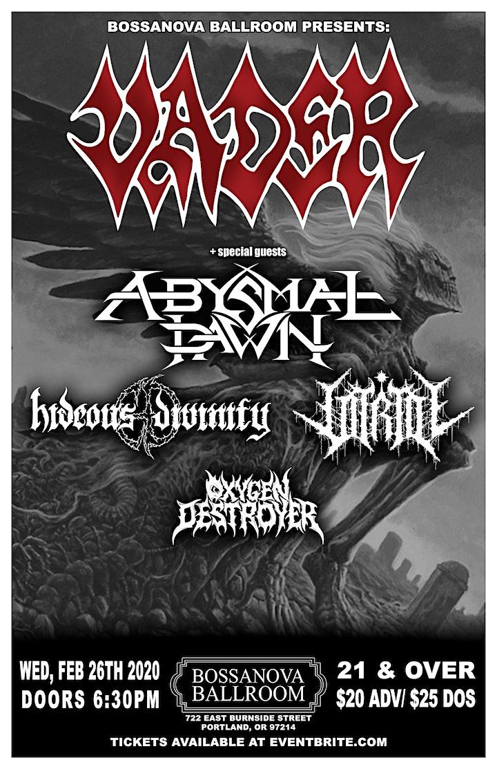 VADER, Abysmal Dawn, Hideous Divinity, Vitriol, Oxygen Destroyer image