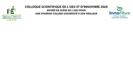 """Concours d'affiche """"Colloque Scientifique I2E3-INNOFIBRE"""" billets"""