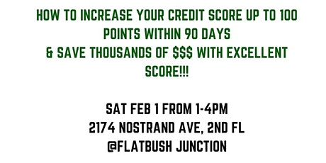 How To Get The Perfect High Credit Score & buy anything you want! tickets