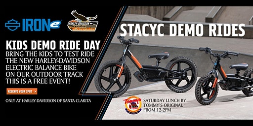 KIDS DEMO RIDE! The NEW Harley-Davidson Electric Balance Bike
