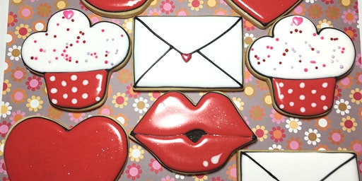 Beginner Valentines Day Cookie class Sat. 2/8/2020 1-4pm Soldout