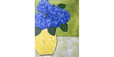 Hydrangeas Paint & Sip Night - Art Painting, Drink & Food tickets