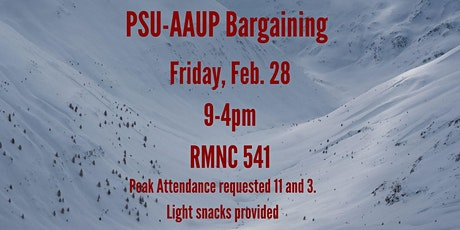 PSU-AAUP Bargaining - February 28 tickets