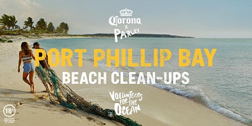 Corona x Parley Beach Clean-Up Port Phillip Bay