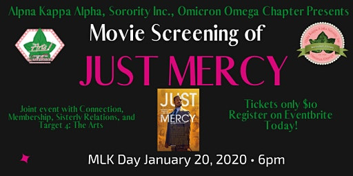 AKA Omicron Omega Chapter Movie Screening of Just Mercy