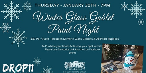 Winter Wine Glass Paint Event