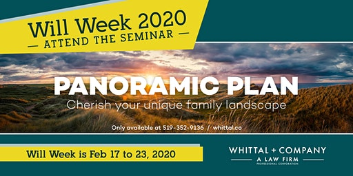 Will Week 2020: Panoramic Plan Seminars