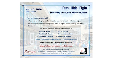 Run, Hide, Fight - Surviving an Active Killer Incident  tickets