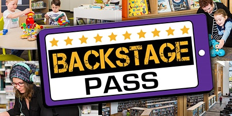 CANCELLED: Backstage Pass (all ages) - Caboolture Library & Gallery tickets