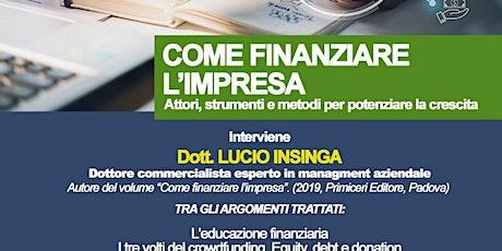 SEMINARIO COME FINANZIARE L'IMPRESA IN COLLABORAZIONE CON PRIMICERI ED. biglietti