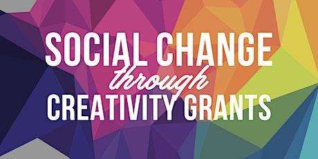 Social Change Through Creativity Grant Writing Workshop A  tickets