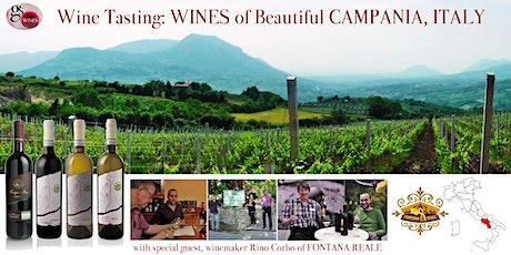 Italian Wine-Tasting Evening - CAMPANIA Special tickets