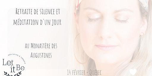 Retraite de silence d'un jour au Monastère : Sound of silence