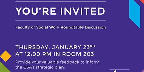 GSA Open Roundtable Discussion tickets