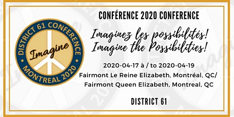 Conférence annuelle District 61 2020 Annual Conference billets