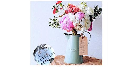Personalized Pitcher Flower Arrangement