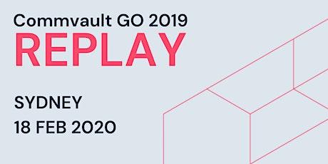Commvault GO 2019 REPLAY - Sydney tickets