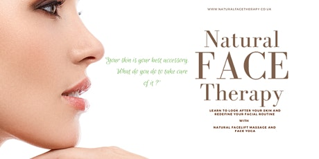 Natural Face Therapy using face massage and face yoga tickets