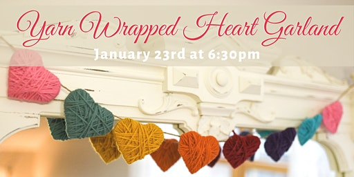 Yarn Wrapped Heart Garland