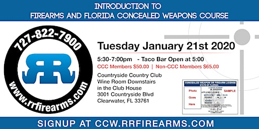 Introduction to Firearms and Florida Concealed Weapons Course