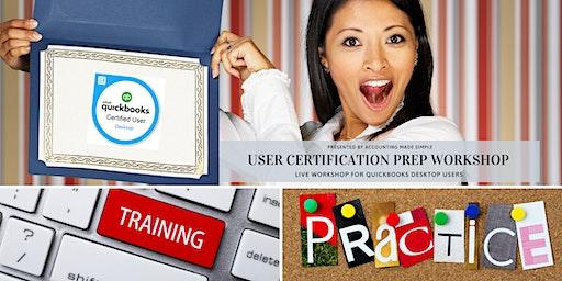 User Certification Prep Workshop For QuickBooks Desktop Users