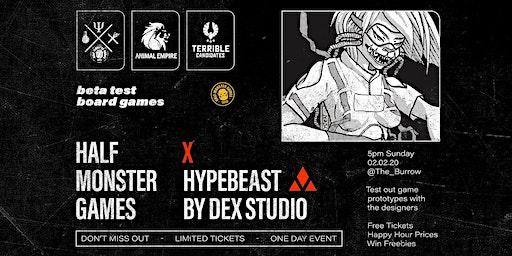 Half-Monster Games x HYPEBEAST x The Burrow Game Night