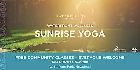 Free Sunrise Yoga - Waterfront Newstead tickets