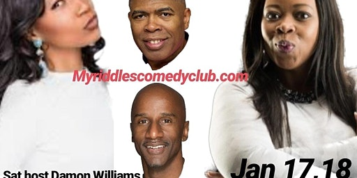 Damon Williams Presents Comedy Series at Riddles