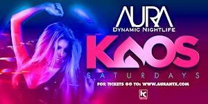 Aura KAOS Saturdays ft. DJ Rectic  01.11.20 