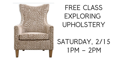 FREE Exploring Upholstery