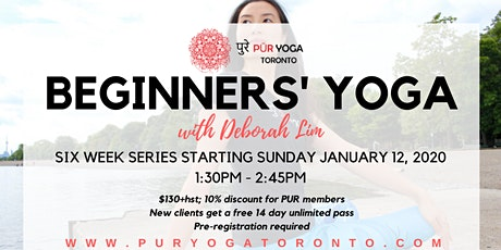 Beginners' Yoga @ PUR YOGA Toronto tickets